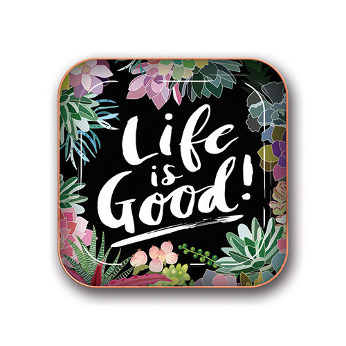 Life is Good Succulents Trinket Tray