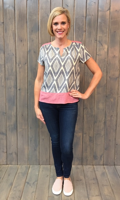 Rose Shoulder Diamond Top
