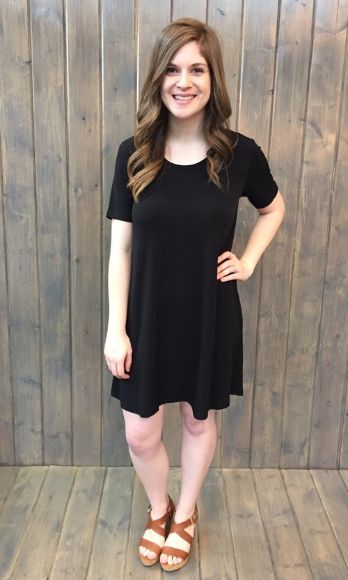 Black Ity Swing Dress