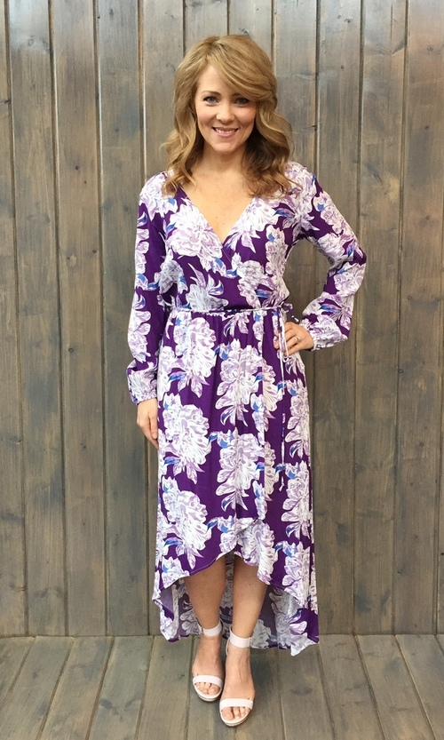 Raw Beauty Dress Purple Peony