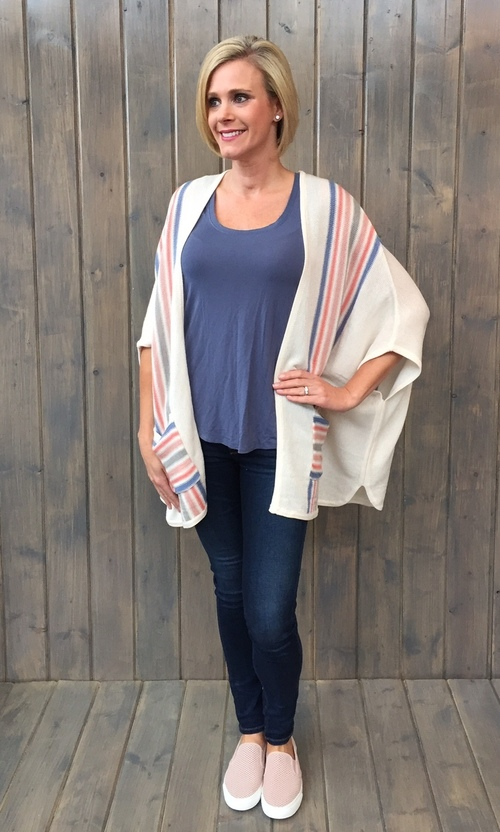 Amos Lightweight Striped Cardigan