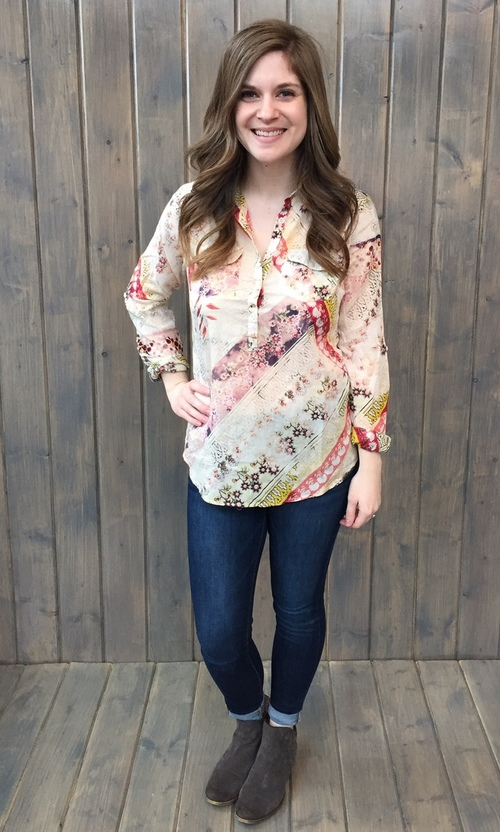 Christy Yellow Floral Pullover
