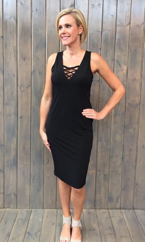 Black Ity Laceup Tank Dress