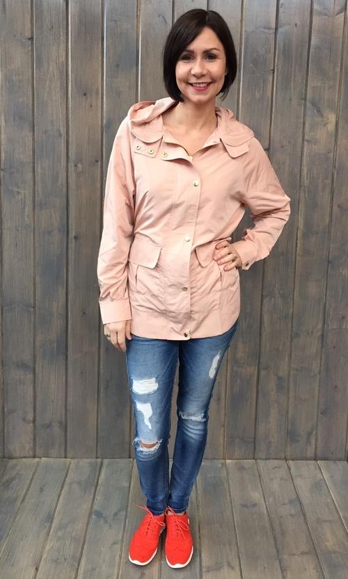 Blush Snap Hooded Jacket