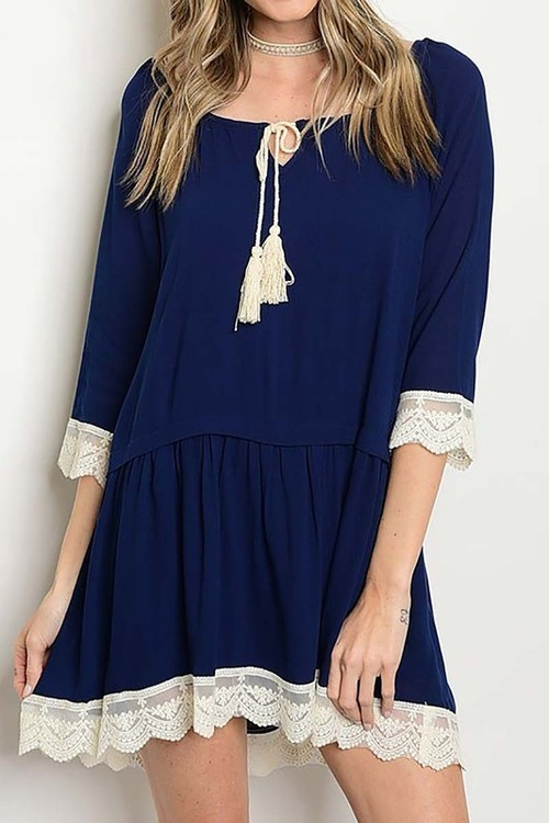 Zoey dress (Navy)