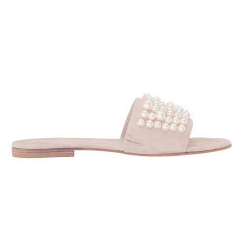 Suede and Pearl Slide