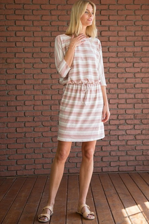 Mindy striped dress (Pink)