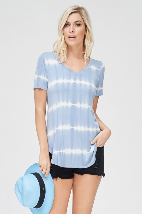 Sky Blue Tie Dye Shirt