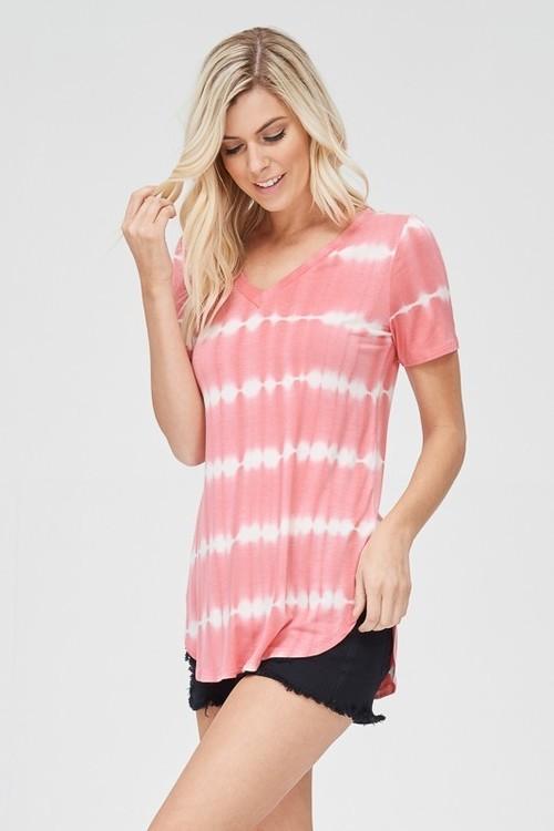 Coral Tie Dye Shirt