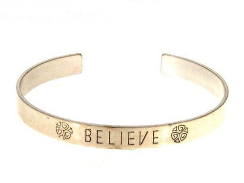 Believe Silver Bracelet