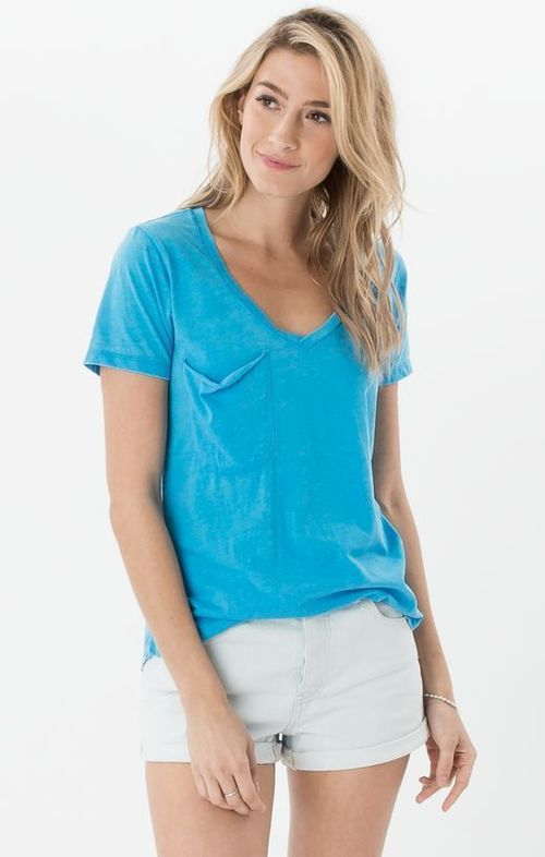 Pocket Tee Lake Blue