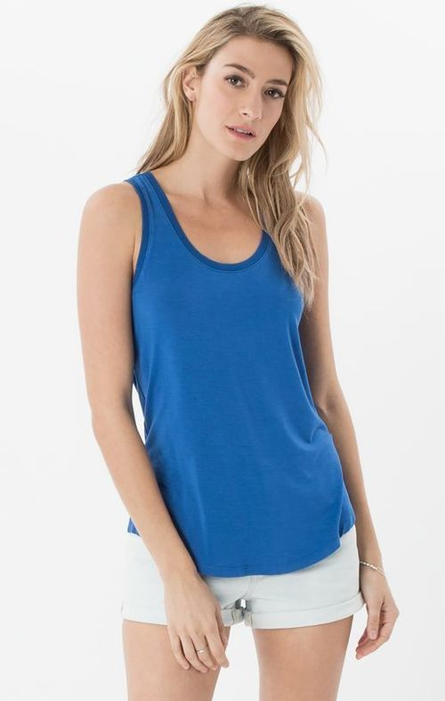 Sleek Jersey Tank Nautical Blue