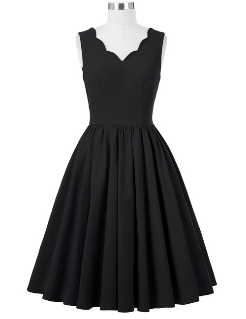Adelaide dress in Black Bengaline