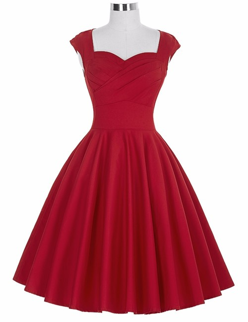 Rita Dress in Red Bengaline
