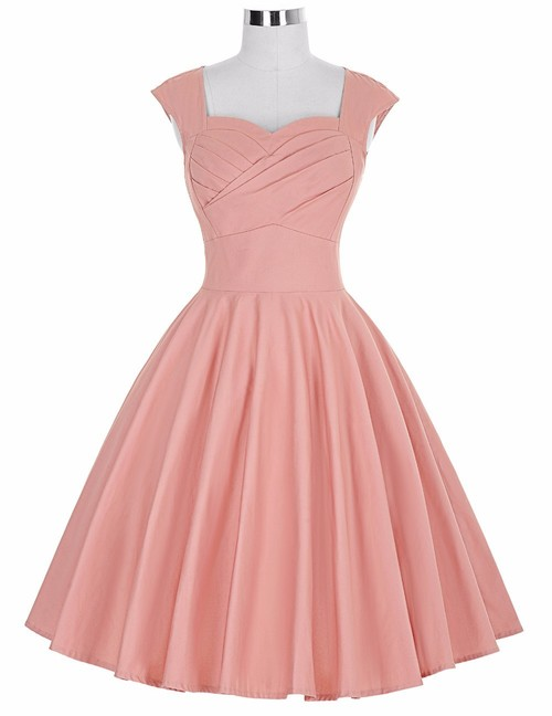 Rita Dress in Dusty Rose Bengaline