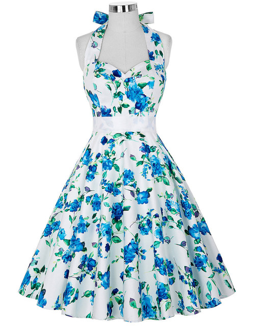 Norma Dress in Alice Blue Floral