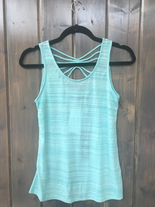 String Back Mint Top