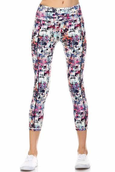 Wild Card Printed Athletic Leggings