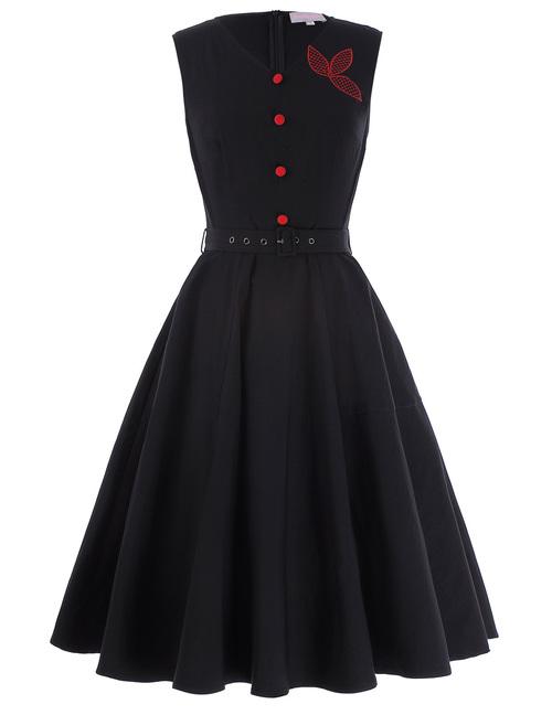 Fara Dress in Black