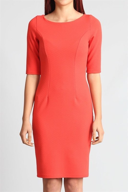 Alicia bodycon dress (Coral)