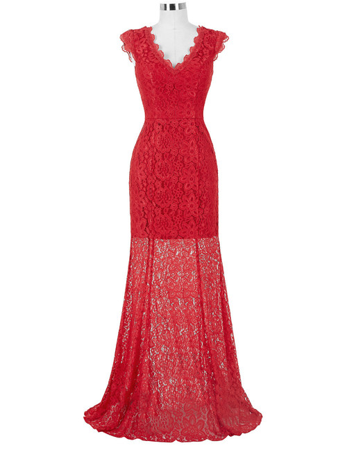 Cara gown in red lace