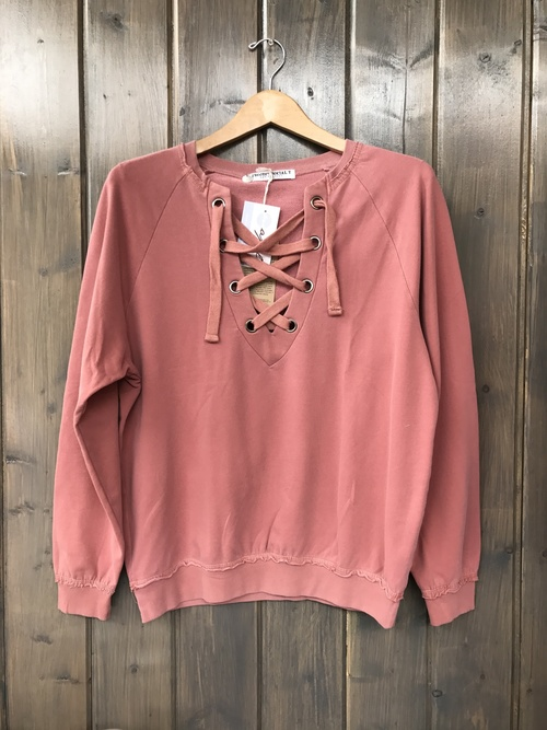 Lace Up Spice Sweatshirt