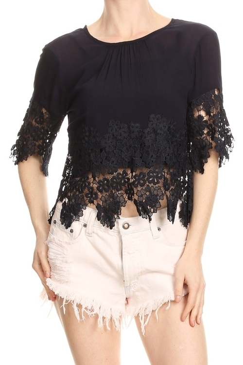 Eden Lace Applique Top