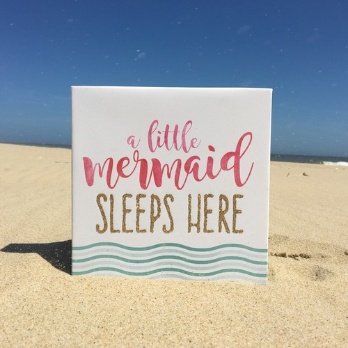 A Little Mermaid Sleeps Here Wall Art
