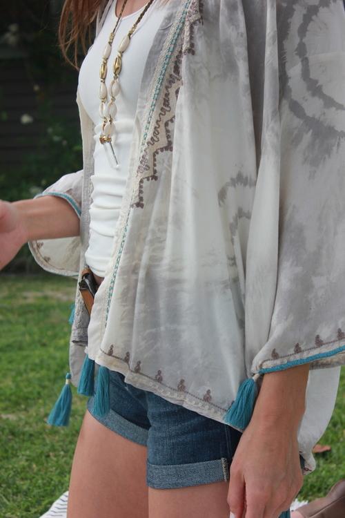 Jelly Aqua Kimono