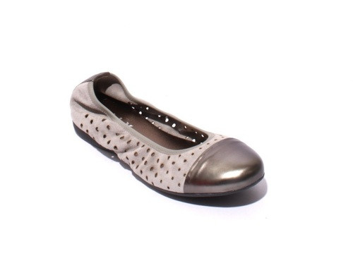 Gray Soft Suede / Leather Comfortable Ballet Flats