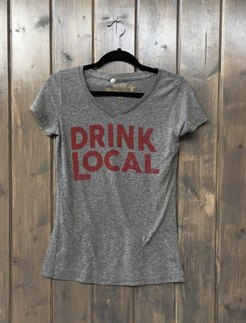 Drink Local Heather Grey V Tee