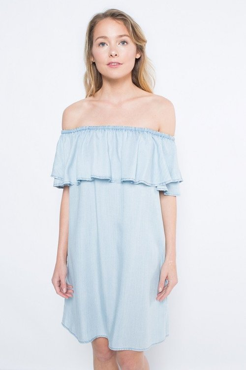 Smock Denim Dress