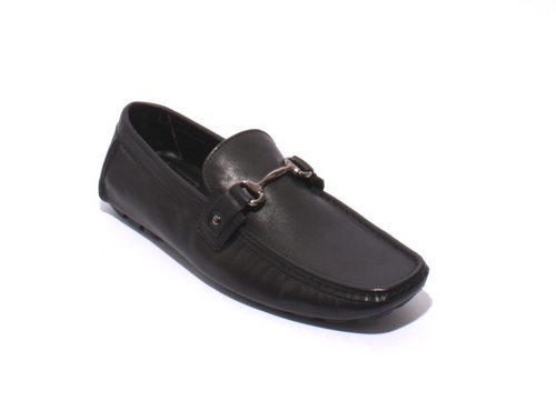 Black Leather Driver Moccasins Loafers