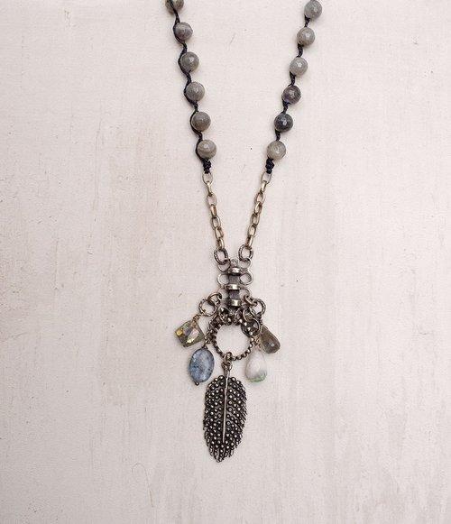 """Labradorite Necklace 36"""""""