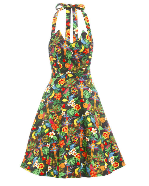 Myrtle Rio Jungle Print Halter Dress