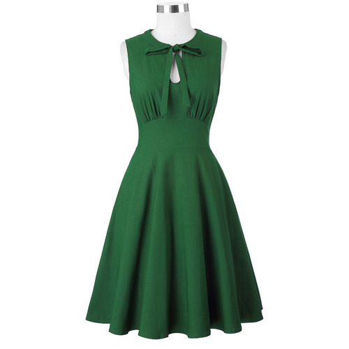 Gwen Dress in Green bengaline