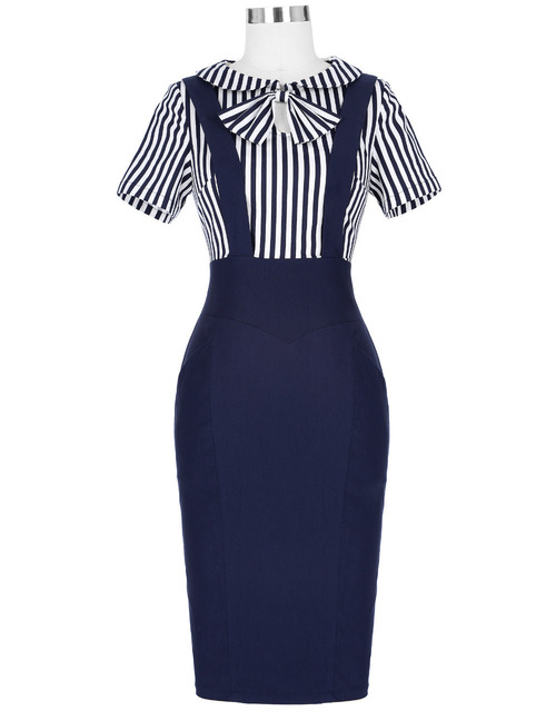 Madeleine Striped Pencil Dress