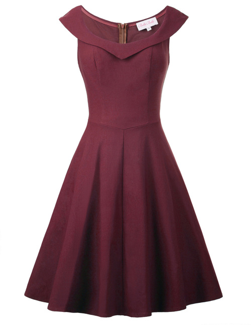 Annie Dress in Wine