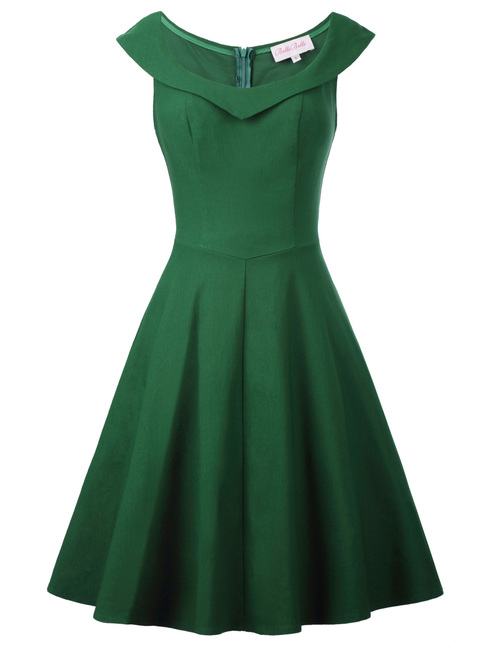 Annie Dress in Green Bengaline