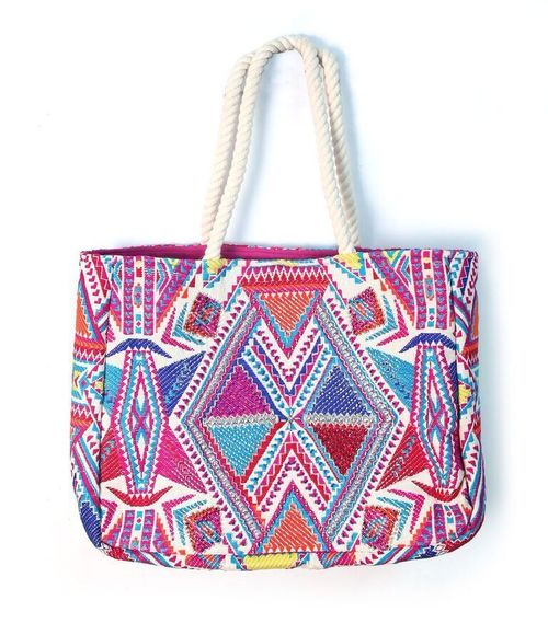 Multi Tribal Tote Bag