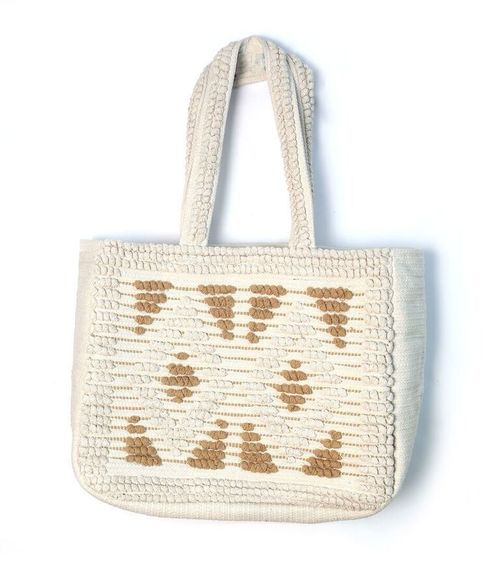 Beige Tribal Tote Bag