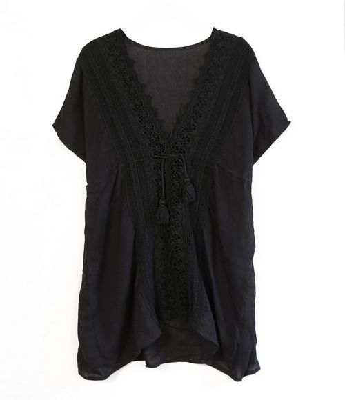 Lace Tunic With Tie