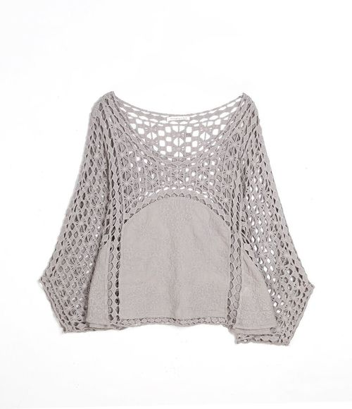 Bat Wing Crochet Top