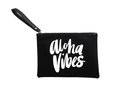 Aloha Vibes Black Clutch