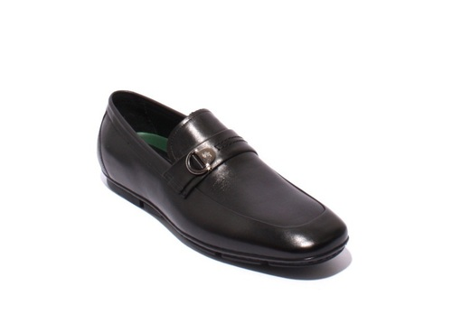 Black Leather Moccasins Loafers