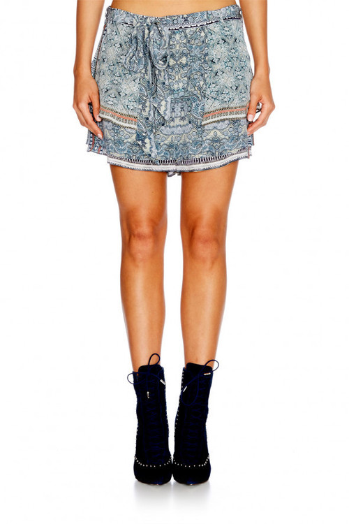 Shorts with Overlay & Tie