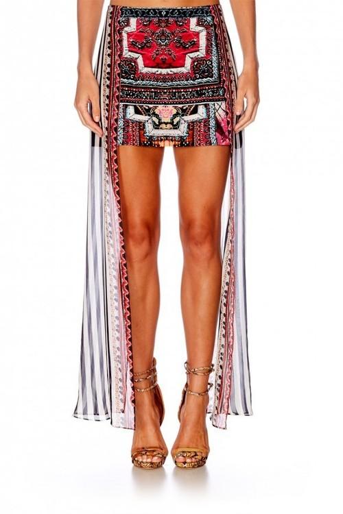 Mini Skirt with Sheer Overlay