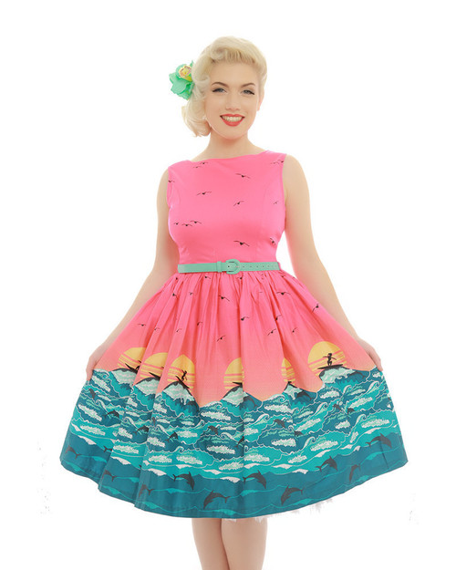 Audrey Pink Surf Dress