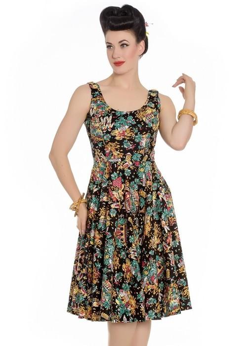 Monte Carlo Print 50s Dress