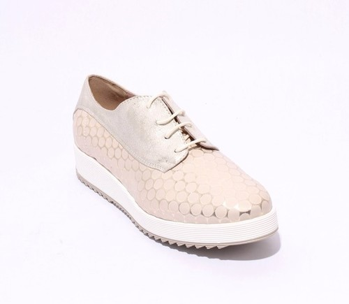 Multi-Color Leather / Fabric / Suede Lace Up Shoes